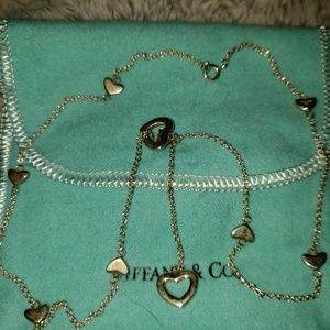 Tiffany retired heart lariet necklace